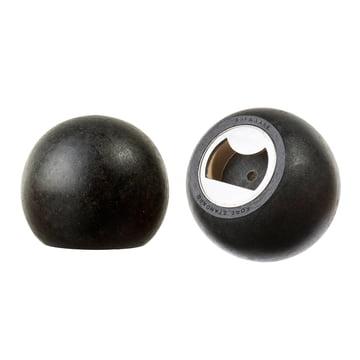 Areaware - Sphere Bottles opener, black wood - sides