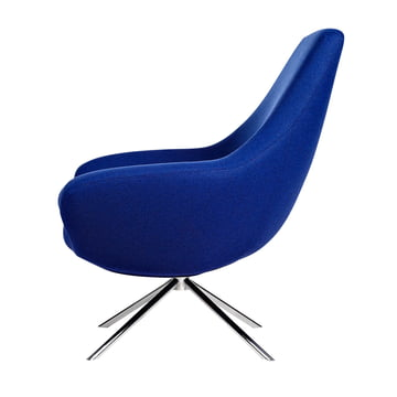 Softline - Noomi Lounge Armchair, blue - lateral