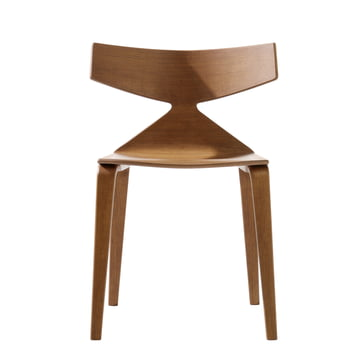 Arper - Saya Chair, wooden legs, teak