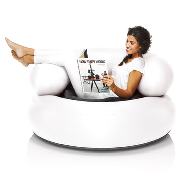 Fatboy - Inflatable Ch-air, white - with person