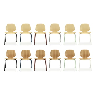 Normann Copenhagen - My Chair, ash, oak - group, colours