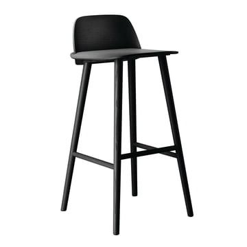 Muuto - Nerd Barstool, black, 75 cm