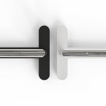 White or black with polished stainless steel