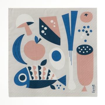 Ferm Living - Grocery Paper Napkins, grey