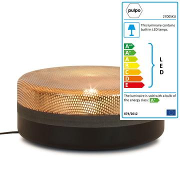 Pulpo - Big Steel Drop lamp, black, copper-coated top