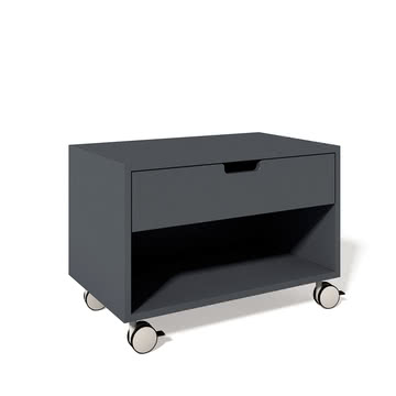 Müller Möbelwerkstätten - Bedside table Modular, grey 7016