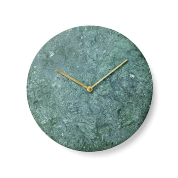 Menu - Marble Wall Clock, green