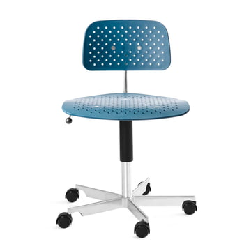 Engelbrechts - Kevi Air Swivel Chair, ocean blue