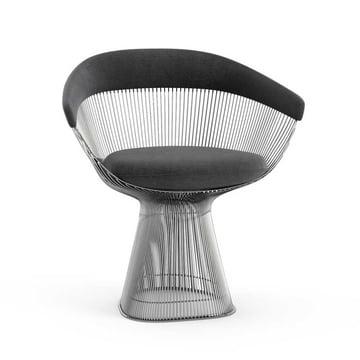 Knoll - Platner Arm Chair, Velvet Graphite