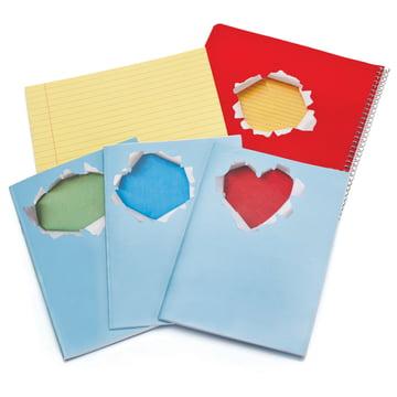 Peleg Design - Greeting Stickers - on notebooks