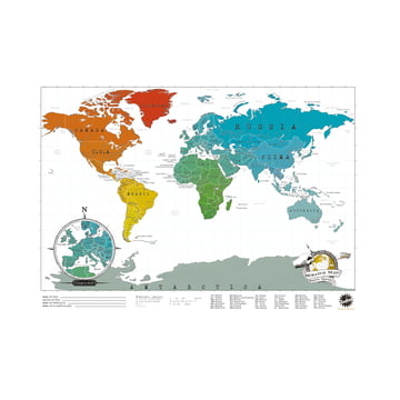 Luckies - Scratch-Map Travel Edition, scratched-off countries