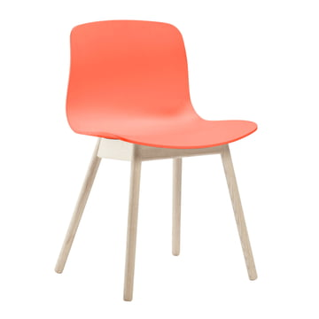 Hay - About A Chair AAC 12, oak wood (soaped) / coral red