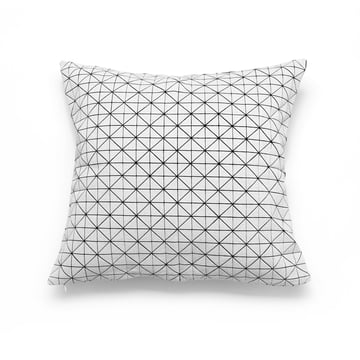 Mika Barr - Geo Origami cushion cover 50 x 50 cm, black / white