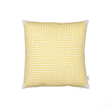 Vitra - Graphic Print Pillows Maze mustard 40 x 40