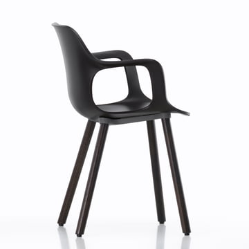Hal Wood Armchair by Vitra in black