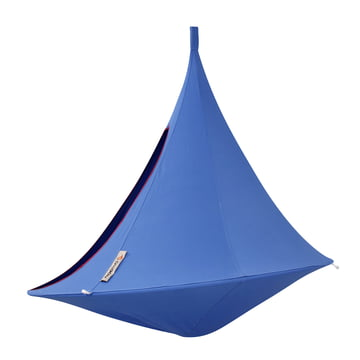 Cacoon - Double Hanging Chair, sky blue - side