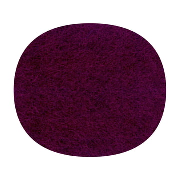 Hey Sign - felt-cushion Eames Plastic Side Chair, aubergine, 5mm