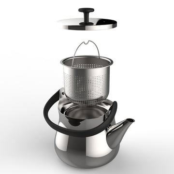 Alessi - Cha kettle / teapot, individual parts