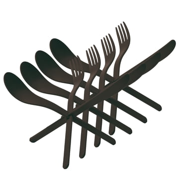 Konstantin Slawinski - Join plug cutlery, set of 4, black