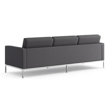 Knoll - Florence Sofa 3-seats - fabric Hopsack, charcoal