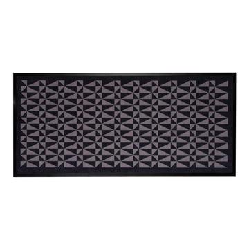 tica copenhagen - food mat 80 x 185 cm, black / grey