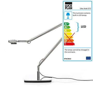 Luceplan - Otto Watt Desk Light, silver