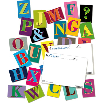 siebensachen - LETTERcards Postcards-Set