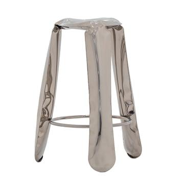 Zieta - Plopp bar stool, silver