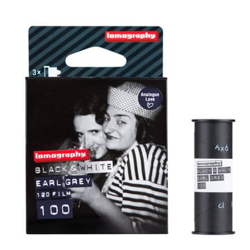 Lomography - 120 Earl Grey Negative Film - package with film
