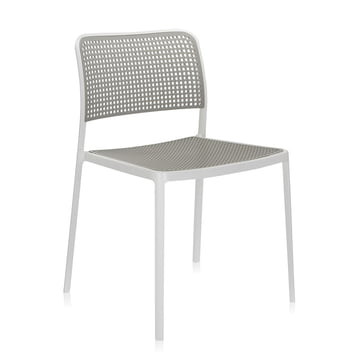 Kartell - Audrey Chair, without arm-rest, aluminium / light-grey
