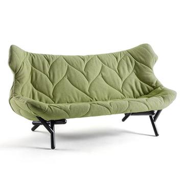 Kartell - Foliage Sofa, green trevia, black legs