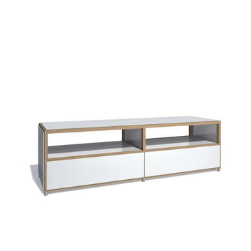Flötotto - ADD Lowboard, 3 drawers base, white melamine