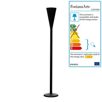 FontanaArte - Luminator Floor Lamp, matt black