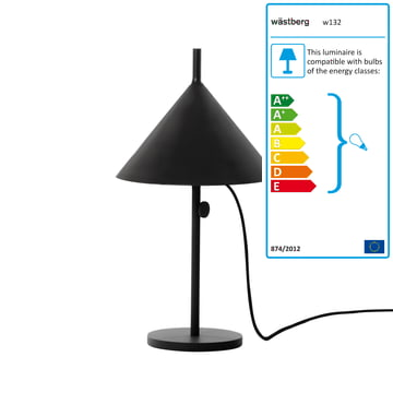 Wästberg - Nendo Table Lamp Cone w132t1, black