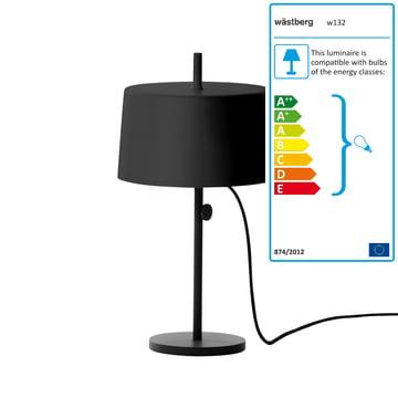 Wästberg - Nendo Table Lamp Cylinder w132t2, black