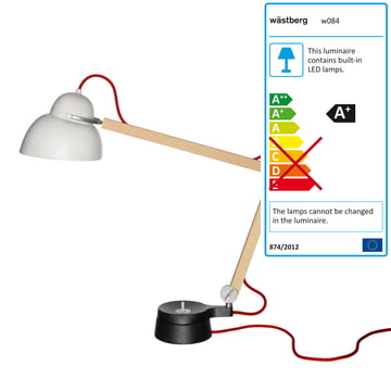 Wästberg - Studioilse Table Lamp w084t2, red cord