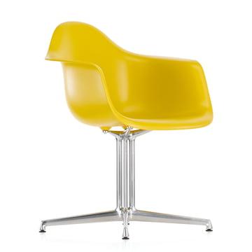 Vitra - Eames Plastic Armchair DAL, yellow, felt pads
