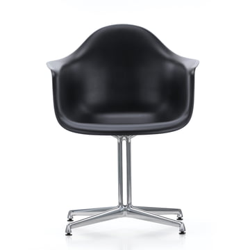 Vitra - Eames Plastic Armchair DAL, black, felt pads