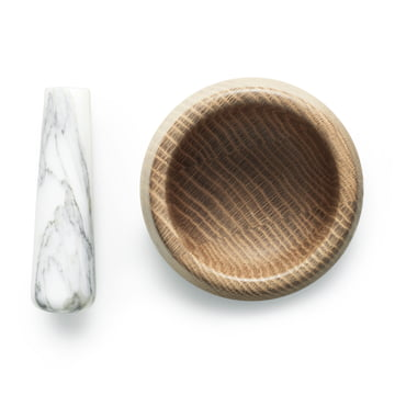 Normann Copenhagen - Craft Mortar with Pestle, white