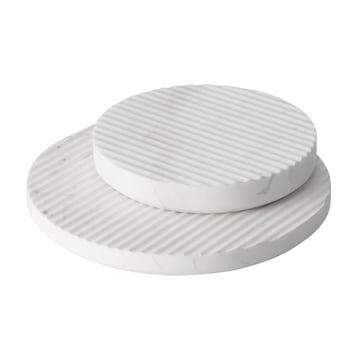 Muuto - Groove Marble-Trivet Ø 21,1 / Ø 16, white