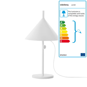 Wästberg - Nendo Table Lamp Cone w132t1, white
