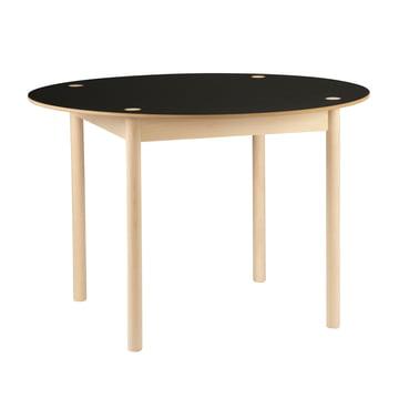 Hay - C44 Tisch, Ø 110 cm, beech soaped, black