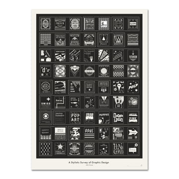 Pop Chart Lab - A Stylistic Survey of Graphic Design