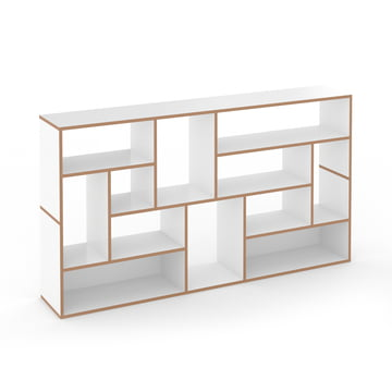 Hanibal shelving system by Tojo as sideboard