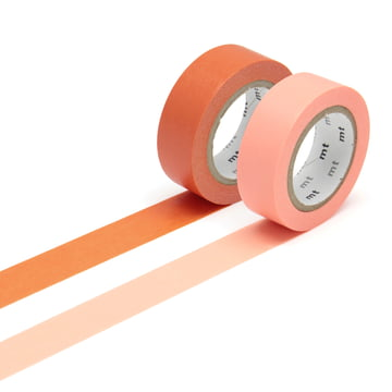 Masking tape - 2P basic color ninjin, salmon pink (Set of 2)