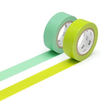 Masking tape - 2P basic color wakanae, wakamidori (Set of 2)