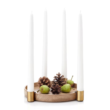 Applicata - Luna Candleholder, black