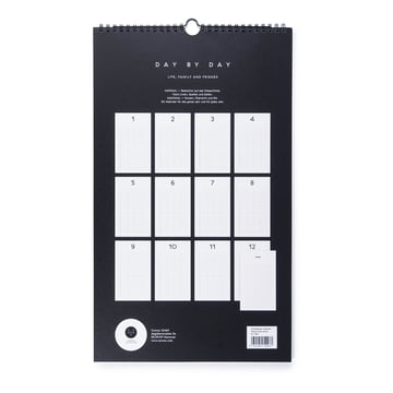 Maven Wall Calendar, backside