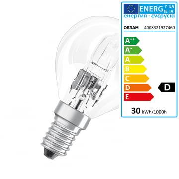 Osram - Drop Halogen-Lamp Classic P Eco E14, 30W
