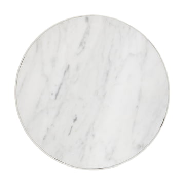 ferm living - Marble Table, medium, white